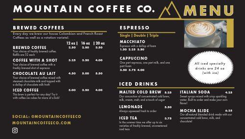 Coffee Digital Menu Display
