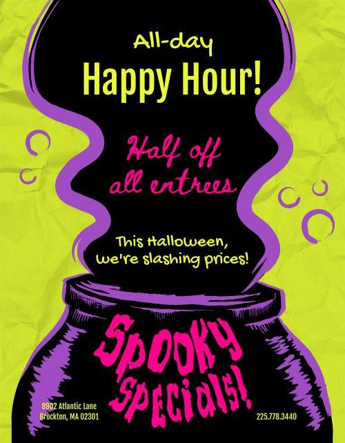 Halloween Deal Flyer