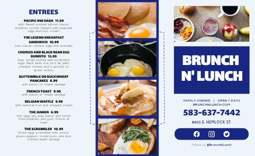 Basic Breakfast Takeout Menu