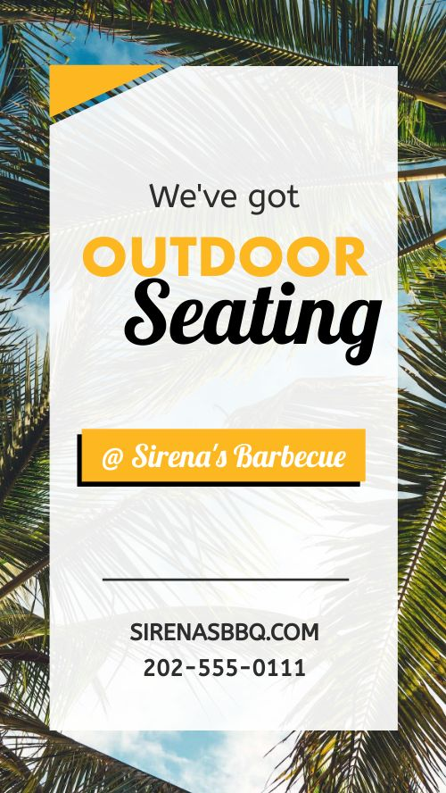 Outdoor Seating Facebook Story