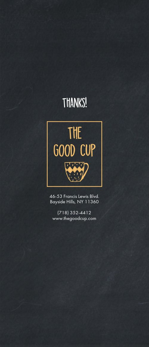 Coffeehouse Comment Card