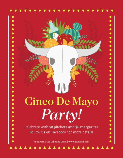 Cinco De Mayo Celebratory Flyer