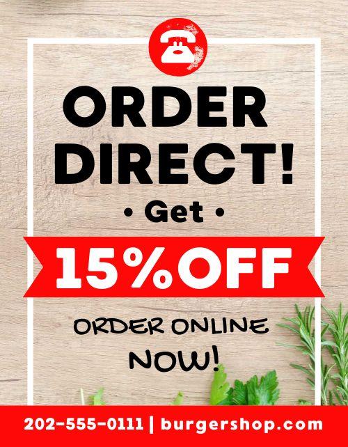 Order Direct Sale Flyer