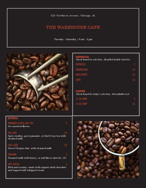Coffee Roast Master Menu