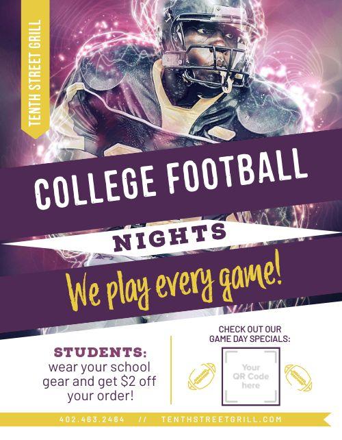 Football Night Flyer