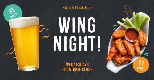 Wing Night Facebook Post
