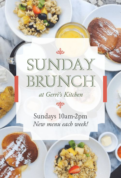 Sunday Brunch Table Tent