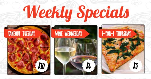 Pizza Specials Facebook Update