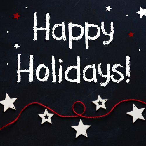 Happy Holidays Starry Night Instagram Post
