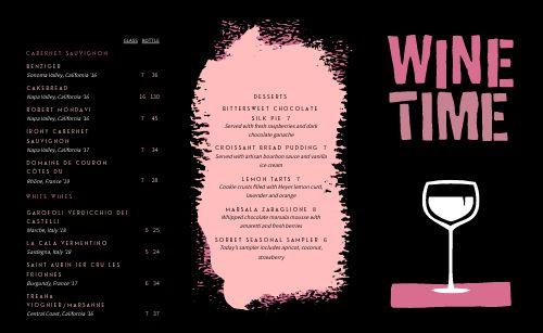 Wine Time Folded Menu