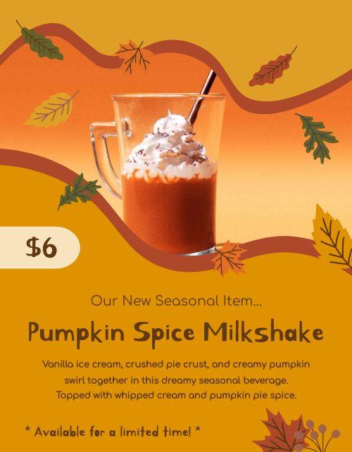 Pumpkin Seasonal Flyer