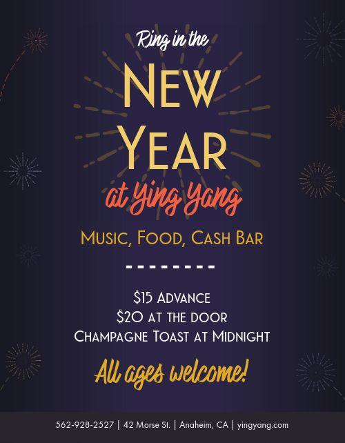 Festive New Years Flyer