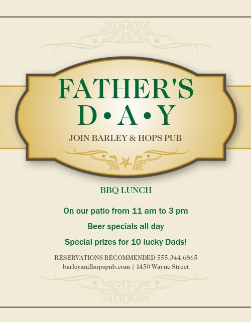 Fathers Day Party Flyer