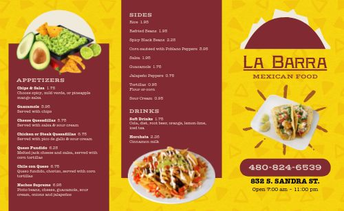 Chips Mexican Takeout Menu