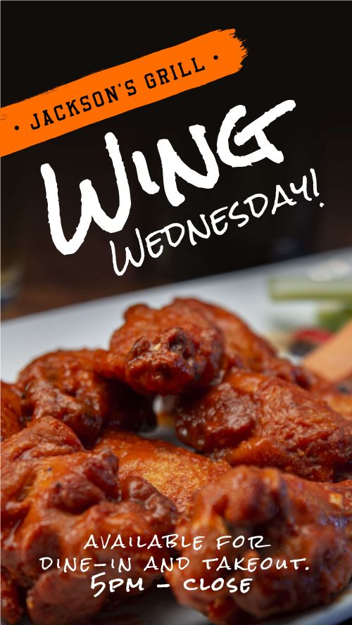 Wing Wednesday Facebook Story