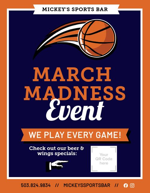 March Madness Event Flyer