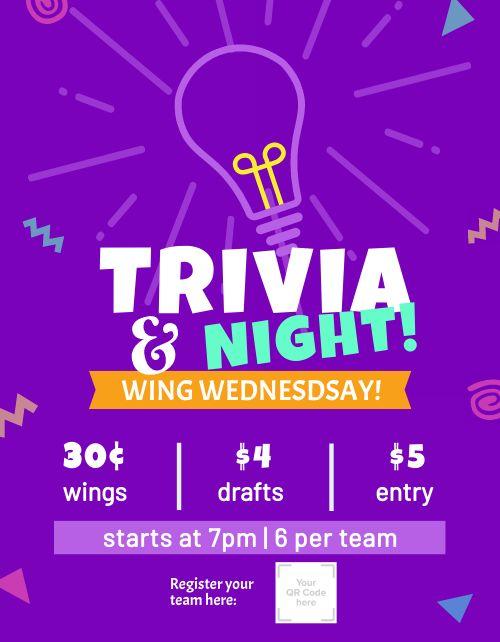 Trivia Night Bar Flyer