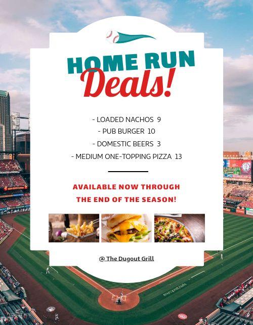 Baseball Deals Flyer