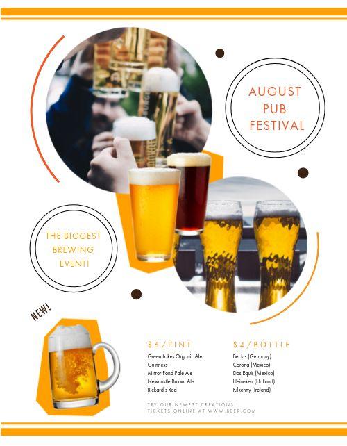 Brewing Pub Menu