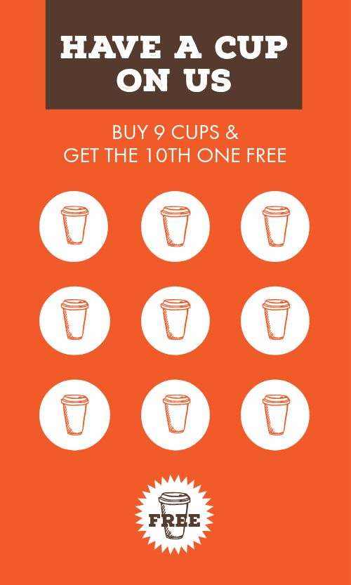Coffee Cup Loyalty Card