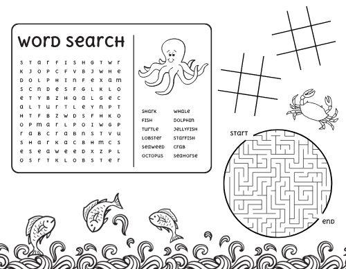 Ocean Word Search Kids Menu