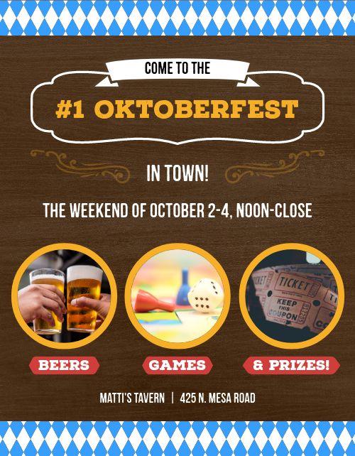 Oktoberfest Deal Flyer