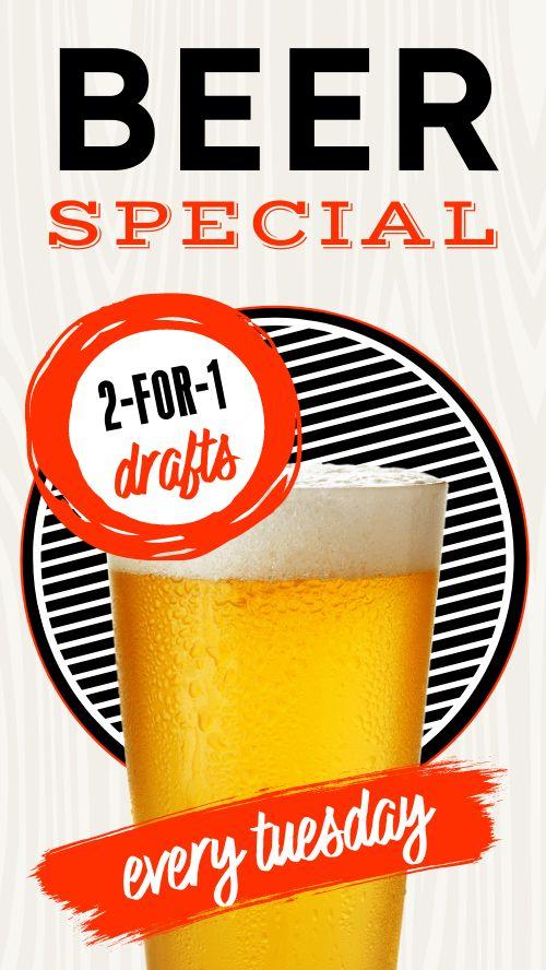 Beer Specials Facebook Story