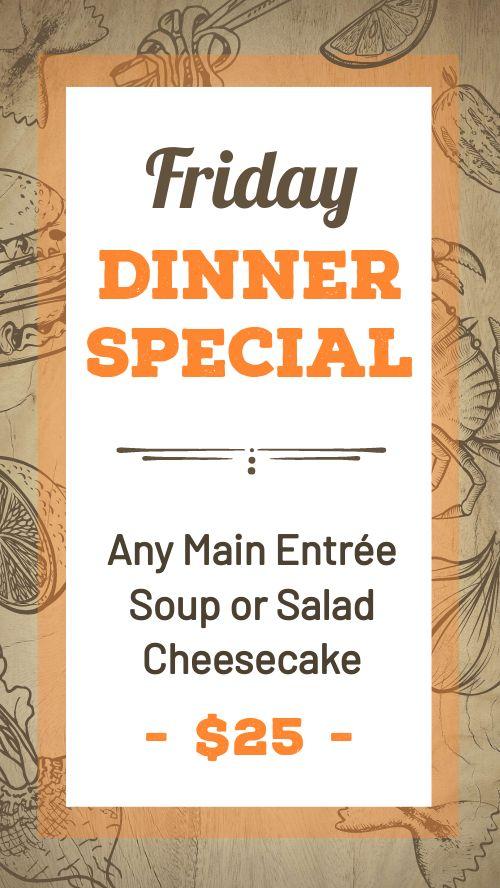 Dinner Special Facebook Story