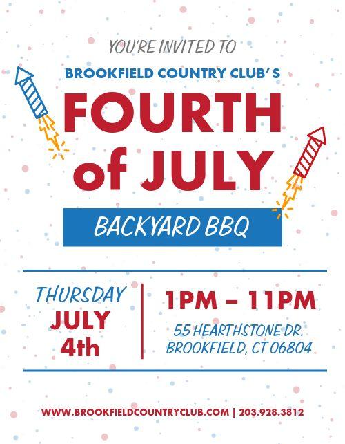 Fourth of July BBQ Flyer