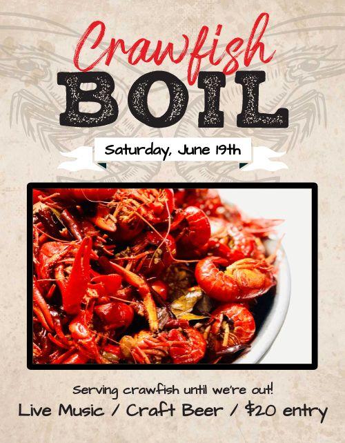 Crawfish Boil Flyer