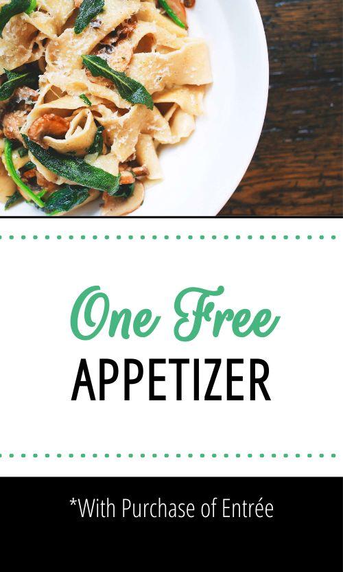Appetizer Promo Card