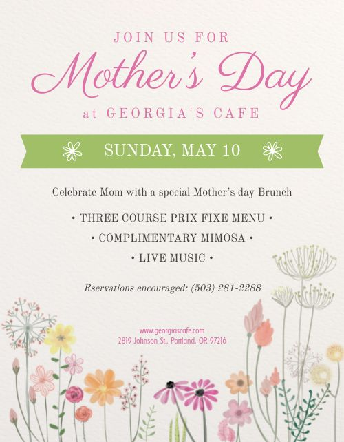 Mothers Day Flowers Flyer