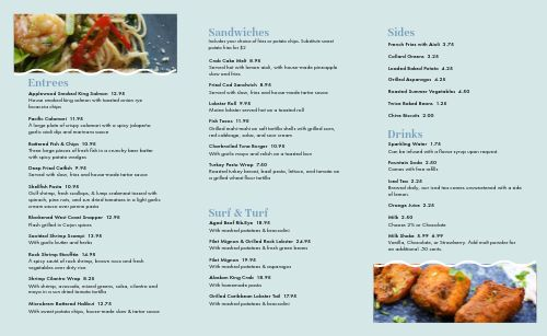 Fish Seafood Takeout Menu