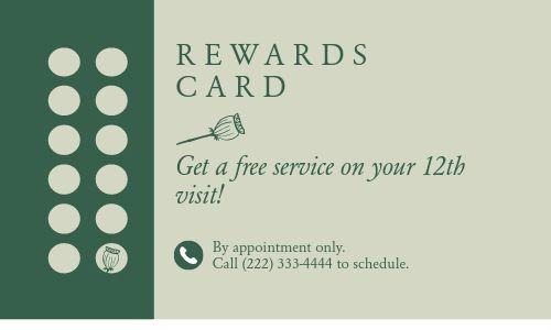 Spa Rewards Card