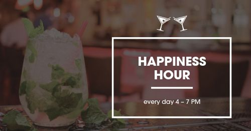 Happiness Hour Facebook Post
