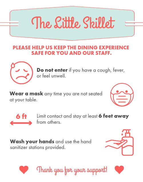 Dining Safety Poster