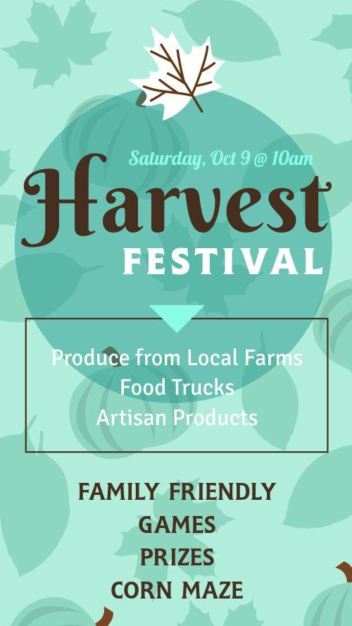 Harvest Festival Instagram Story