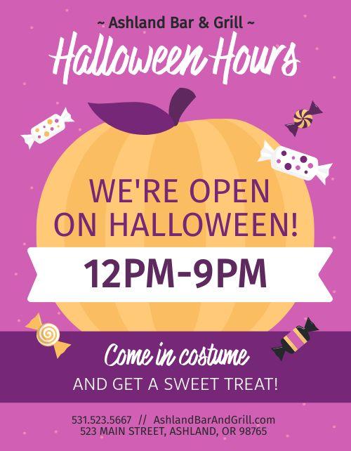 Halloween Hours Announcement