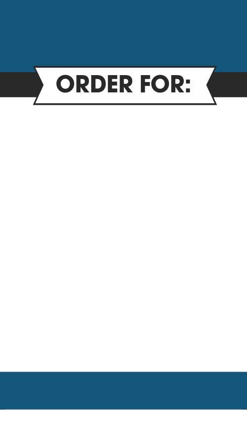 Food Order Label
