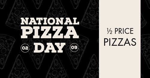 Pizza Day Facebook Post