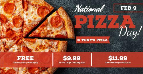 Pizza Day Deals Facebook Post